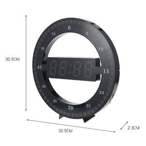 Image 3 - LED ساعة حائط رقمية تصميم عصري ثنائي الاستخدام يعتم الرقمية التعميم الساعات Photoreceptive للديكور المنزل الولايات المتحدة الاتحاد الأوروبي التوصيل