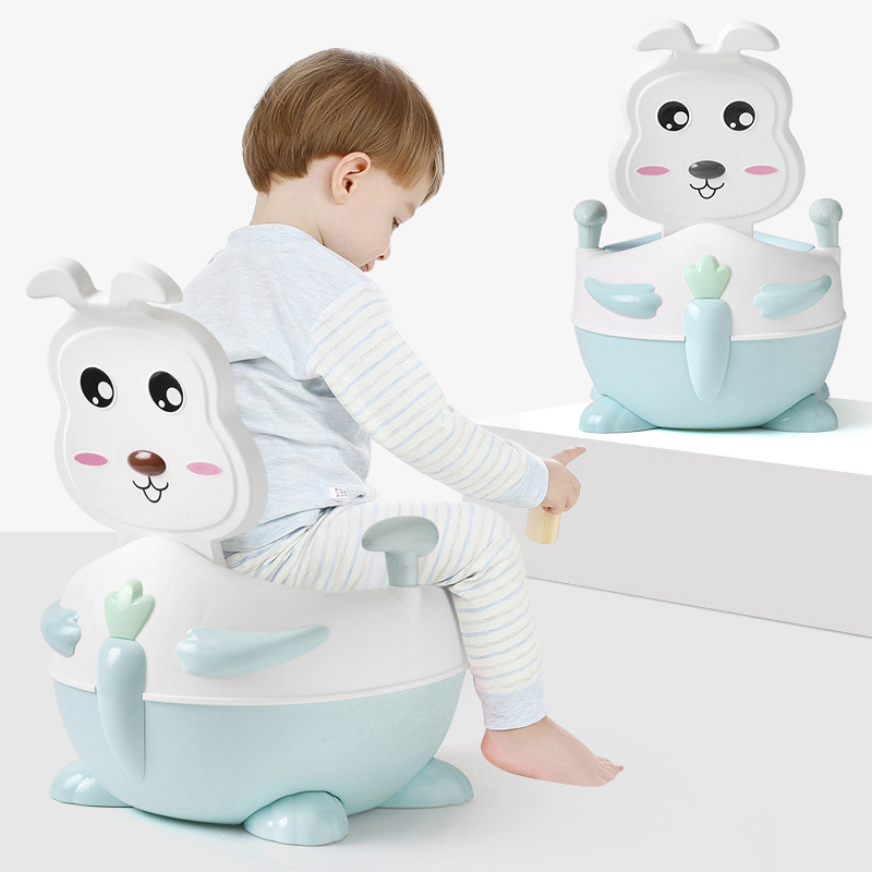 Adorable Rabbit Toilet For Kids Baby Extra-large No. Urinal Men And Women Children Padded Upgraded Urinal Small Chamber Pot