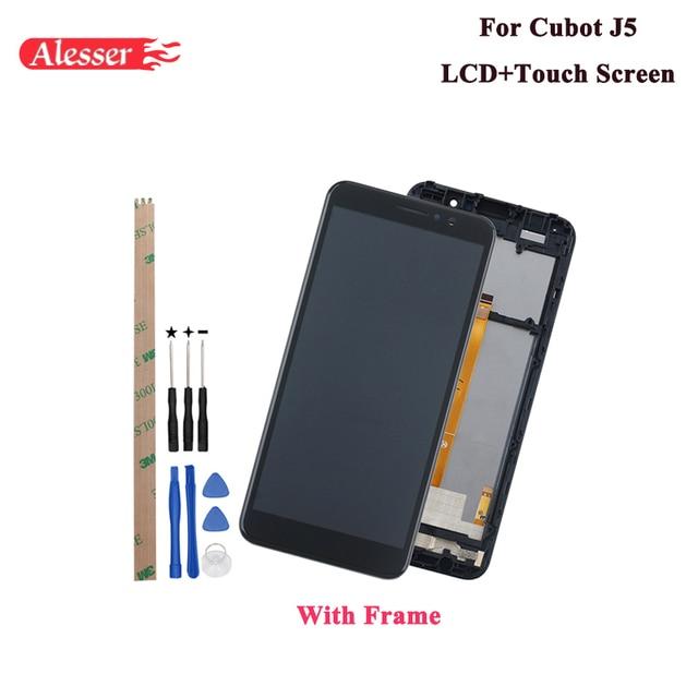 Alesser עבור Cubot J5 LCD תצוגת מסך מגע עצרת תיקון חלקי עם כלים ודבקים עבור Cubot J5 טלפון עם מסגרת