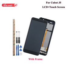 Alesser For Cubot J5 LCD Display and Touch Screen Assembly Repair Parts With Tools And Adhesive For Cubot J5 Phone With Frame