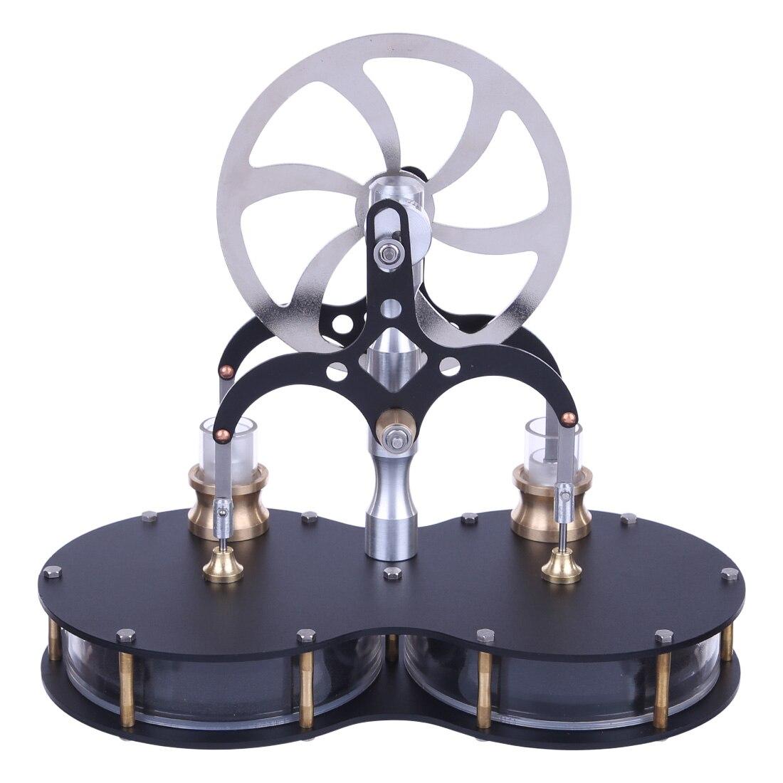 2019 nouveau assemblé en forme d'arachide Double cylindre Balance basse température différence Stirling moteur modèle éducatif modèle