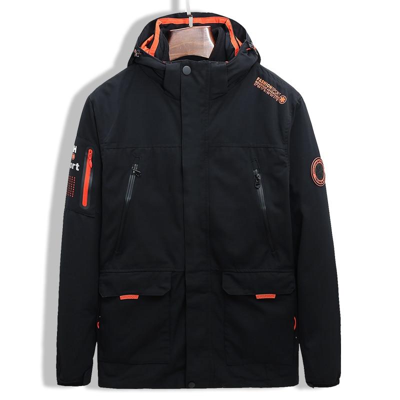 Winter Outdoor Jacket Ski Suit Men And Women Three-in-one Two-piece Suit Plus Velvet Thick Windproof Waterproof Cold Climbing Su