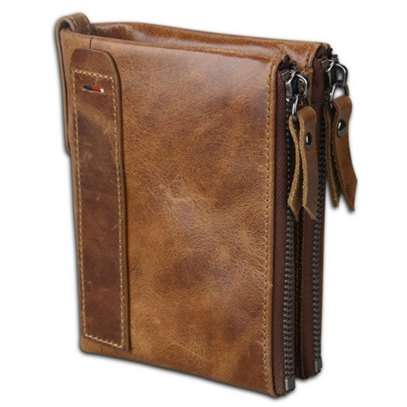 Genuine Leather Men's Wallet Purse Male Small Portomonee Rfid Wallet Lady Coin Purses For Girls Money Bag Cartera Mujer