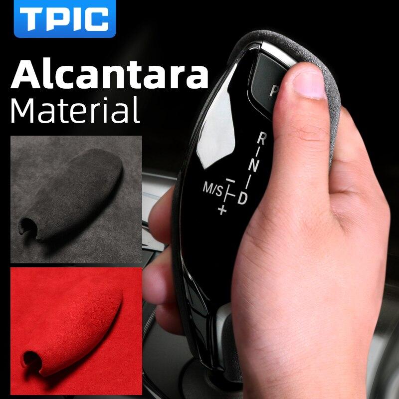 TPIC Alcantara Чехол для BMW X3 G01 6GT G38 G32 G11 G12 G01 G02 G08 5 7 серия ручка переключения рулевого механизма автомобиля крышки Аксессуары для автомобильного и...