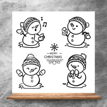 ZhuoAng Cute snowman Clear Stamps/Silicone Transparent Seals for DIY scrapbooking photo album Clear Stamps