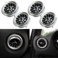 CITALL 4pc Turbo Style Interior Air AC Vent Outlet Trim Fit For Mercedes Benz V Class Vito Viano Metris W447 2015 2016 2017 2019
