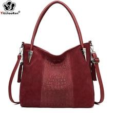 купить Fashion Women Crocodile Pattern Handbag Faux Suede Messenger Crossbody Bag Luxury Handbags Women Bags Designer Shoulder Bags Sac по цене 1561.85 рублей