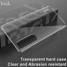 Capa de telefone de plástico duro transparente resistente à abrasão imak para sony xperia 1 iii caso para sony xperia 10 iii escudo traseiro