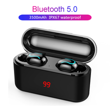 3D Stereo Sound Bluetooth V5.0 Earphone With Charge Case Sport Bass Headset Auto Power On/Off Portable TWS Wireless Touch Earbud