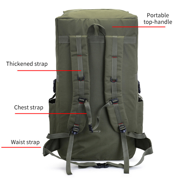 110L large Men Hiking Rucksack Camping Backpack Army Bag Outdoor Climbing Trekking Mountaineering Mochila Blaso Sport XA860WA 5