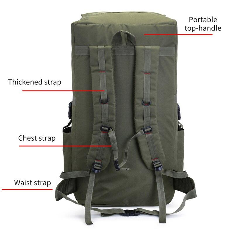 110L grand hommes randonnée sac à dos Camping sac à dos armée sac en plein air escalade Trekking alpinisme Mochila Blaso Sport XA860WA - 5