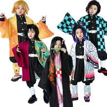 Cosplay Costume Adult Shinobu Slayer Anime Demon Kamado Kids Zenitsu/kochou Girls C90C36