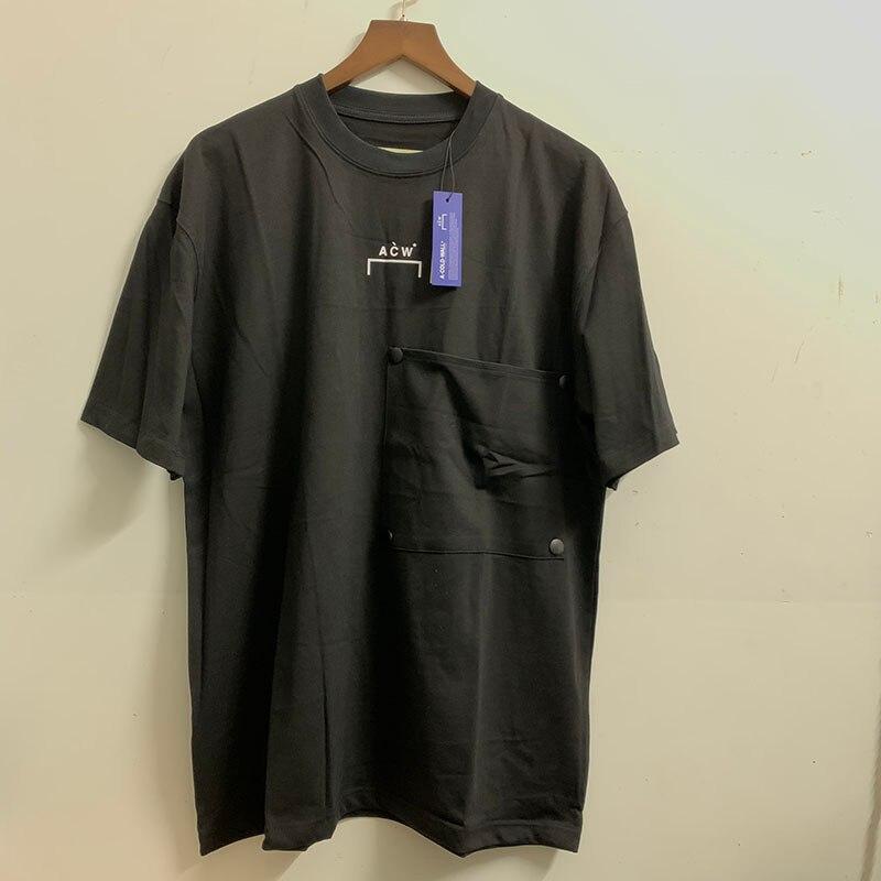 Новая коллекция большая кнопка карман A-COLD-WALL * футболки для мужчин и женщин 2021 Одежда высшего качества хлопковая классическая печать логоти...