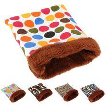 Милое в горошек плюшевый спальный мешок мини кровать любимчика