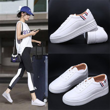 Women Tennis Shoes Women Casual Flats Lace-up Student Fashion Ladies Spring/Autumn Shoes designer White Sneakers EUR Size 35-39 plus size flat shoes woman fashion bow big size women flats shallow mouth women s shoes for spring autumn size 35 43 wsh2345