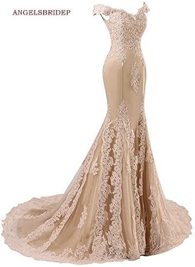 ANGELSBRIDEP Off-Shoulder Mermaid Prom Dresses Fashion Applique Crystal Court Train Vestidos de festa Abendkleider Party Gowns 2