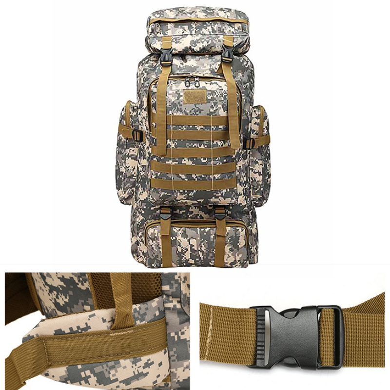Outdoor Military Backpack Climbing Camping Bag Large Capacity Mountaineer For Hunting Shooting Camping Trekking Hiking Travel Ba in Climbing Bags from Sports Entertainment