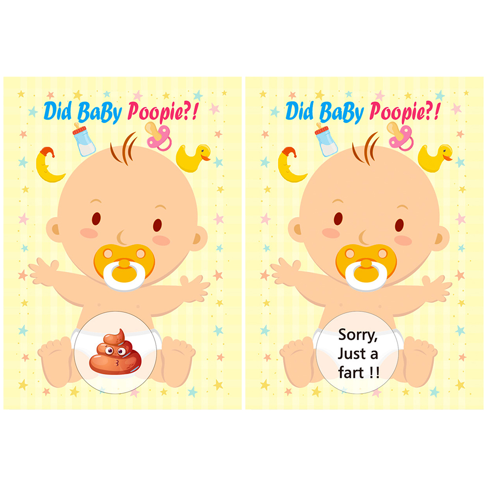 1 Set Of Baby Shower Scratch Off Funny Activity For Party With Beautiful Colors Children Toys Game Scratch Raffle Card Set