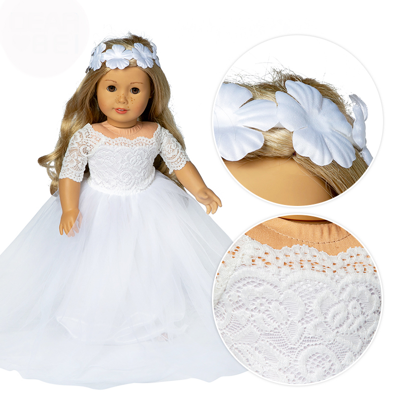 Beautiful Weddings Dress Clothes fits for American girl 18 american girl doll alexander doll best gift image
