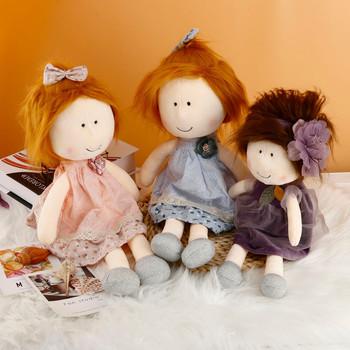 Handmade szmata lalki do dekoracji wnętrz i projektowania wnętrz 18 5 Cal prezent zabawki dla niemowląt pluszowe zabawki miękkie prezenty Handmade szmata tanie i dobre opinie CN (pochodzenie) Handmade Rag Dolls For Home Miękkie i pluszowe Film i telewizja Fashion doll Styl życia 2-4 lat Tkaniny