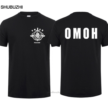 Russian Russia Special Forces Police T-shirt Mans OMOH Tshirt QR-009 cotton tshirt men summer fashion t-shirt euro size