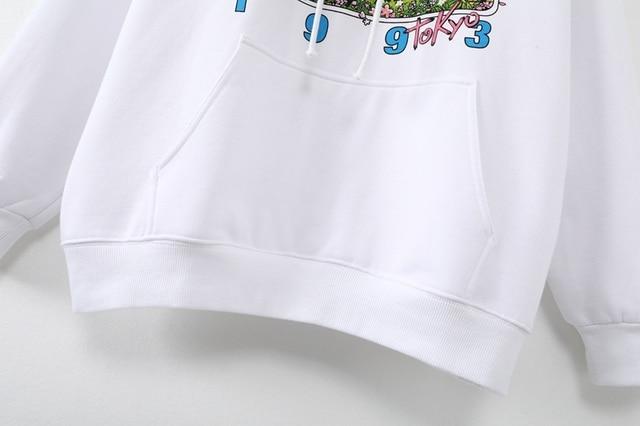 Oversize girls stylish cartoon print hoodies 2020 autumn fashion ladies chic hoodies female casual pullovers streetwear women 5