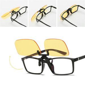 1pcs Clip On Blue Light Filter Blocking Glasses Office Computer Anti Blue Ray Clip On Eyeglasses UV Strain Relief For Women Men