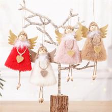 1 sztuk Cute Angel Snowman wiszące wisiorek w kształcie lalki ozdoby na choinkę nowy rok Navidad 2020 ozdoby choinkowe dla domu tanie tanio PD-496-503 Bez pudełka christmas tree decorations home decorations natal new year