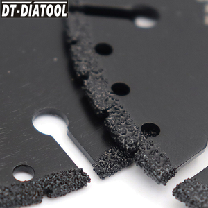 "Image 3 - DT DIATOOL  1pc Vacuum Brazed Diamond Cutting Disc Multi Purpose for Rebar Aluminum hard Granite Rescue Saw blade 4.5"" 9"""