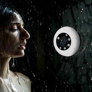 Image 4 - FFYY HOTT Mini Bluetooth kablosuz su geçirmez duş hoparlör vantuz zaman dijital ekran FM radyo mikrofon Handsfree stereo