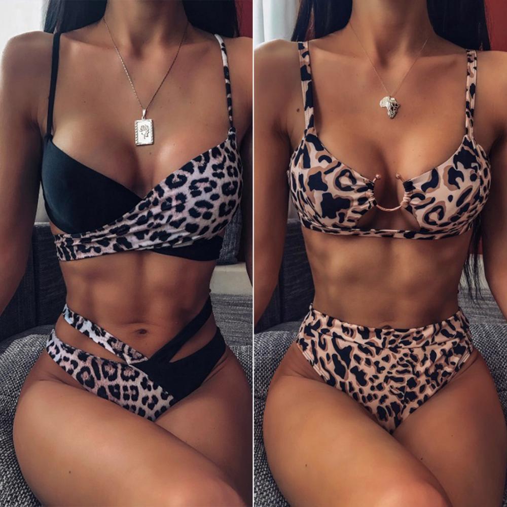 2020 Sexy Women Bikini High Waist Swimsuit Swimwear Female Bandeau Thong Brazilian Biquini Bikini Set Bathing Suit Monokini