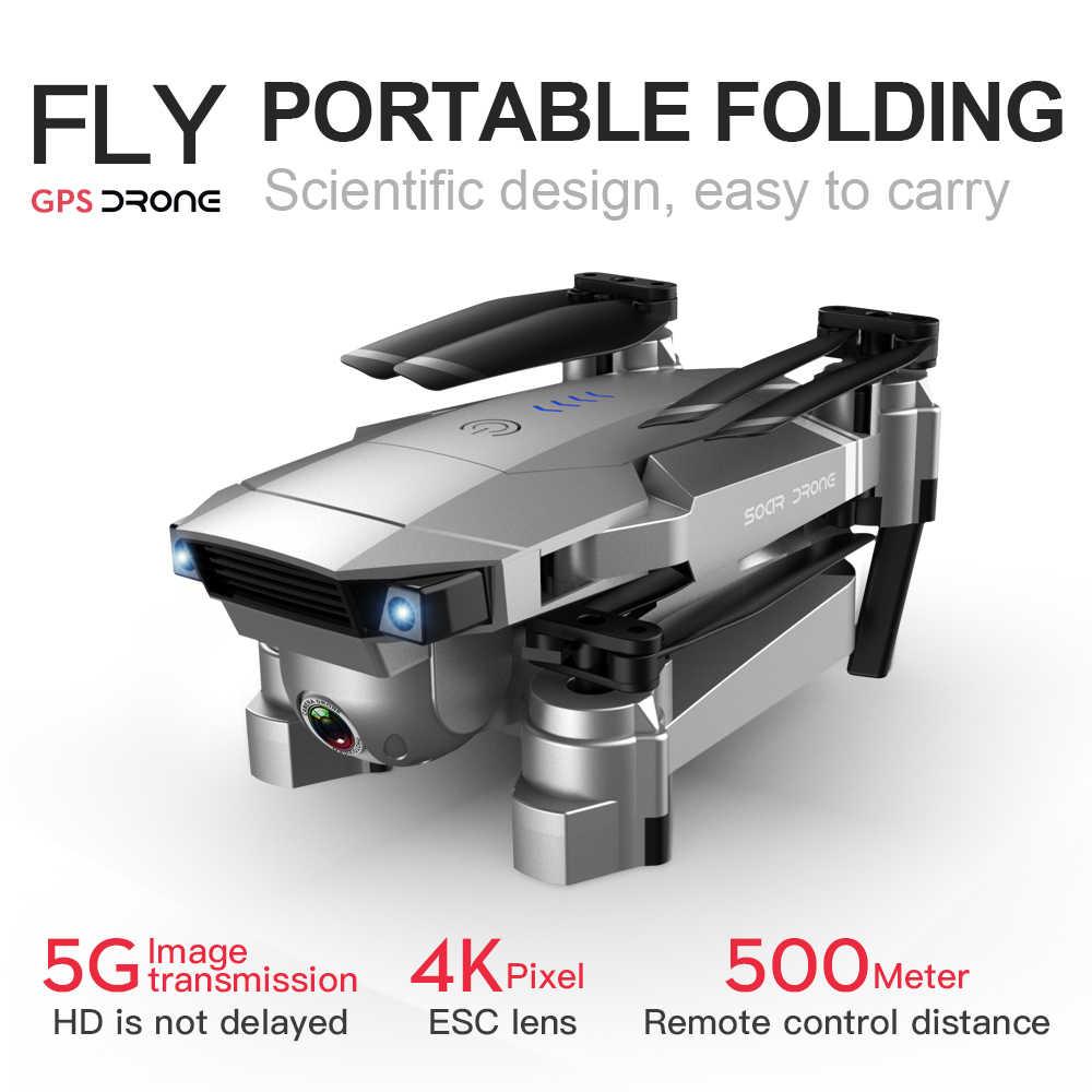 Sm907 Drone 4K GPS Quadcopter con cámara dual de HD gran angular Anti-vibración 5G WIFI FPV Drones plegables GPS profesional sígueme