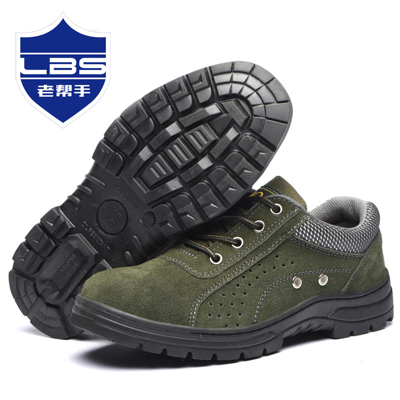 Currently Available Supply Safety Shoes Protective Mesh Cloth Shoes Smashing Anti Puncture Oil Resistant Acid-base Manufacturers