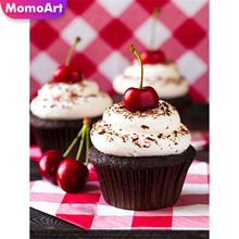 MomoArt 5D Full Square Diamond Painting Cartoon Diy Embroidery Cake Home Decoration Picture Rhinestone Handmade