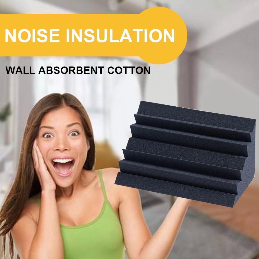 1Pc 120*120*250mm Soundproofing Foam Acoustic Foam Treatment Sound-absorbing Cotton Soundproofing Foam For KTV Audio Room