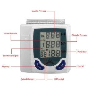 Image 5 - Health Care automatic sphygmomanometer Wrist Cuff blood pressure meter Pulse Monitor machine Heart Beat Meter tester analyser