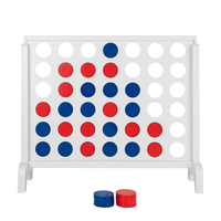 4 in a Row Game with Coins Expansion Classic Connect 4 Game Master Foldable Kids Children Line Up Row Board Puzzle Toys Girl Boy