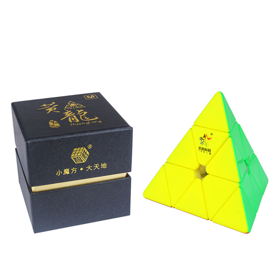 YuXin HuangLong 3x3 Magnetic Pyramid Magic Cube 3Layers Speed Cube Professional Puzzle Toys For Children Kids Gift Toy