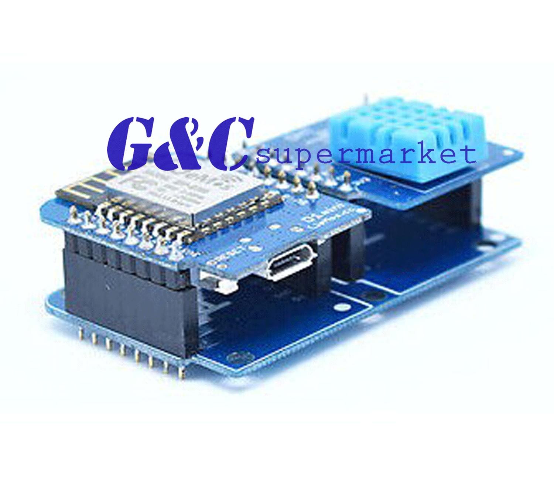 5 шт. двойная розетка двойной базовый щит для WeMos D1 Mini NodeMCU ESP8266 Diy PCB D1 плата расширения Комплект