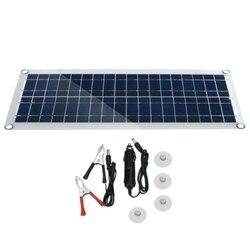 30W 12V podwójny USB elastyczny zestaw paneli słonecznych zacisk szczękowy samochód ładowarka zasilanie akumulatora