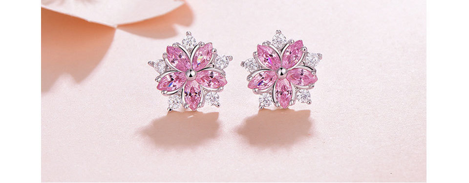 H3c6718b9e25344638f5243d9f659a2e29 - WEGARASTI Silver 925 Jewelry Earrings Woman Pink Cherry Earring 925 Sterling Silver Earrings Wedding Earring