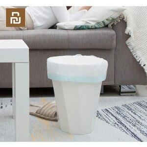 Image 3 - Youpin JieZhi שרוך אשפה שקית אשפה תיק לעבות חומר למנוע דליפה ביתי פלסטיק אשפה תיק 20pcs /1 רול