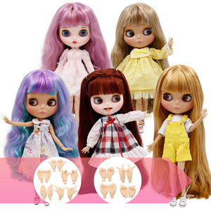 ICY Factory Blyth Doll Joint Body DIY Nude BJD toys Fashion Dolls girl gift New Special Offer on sale with hand set A&B(China)