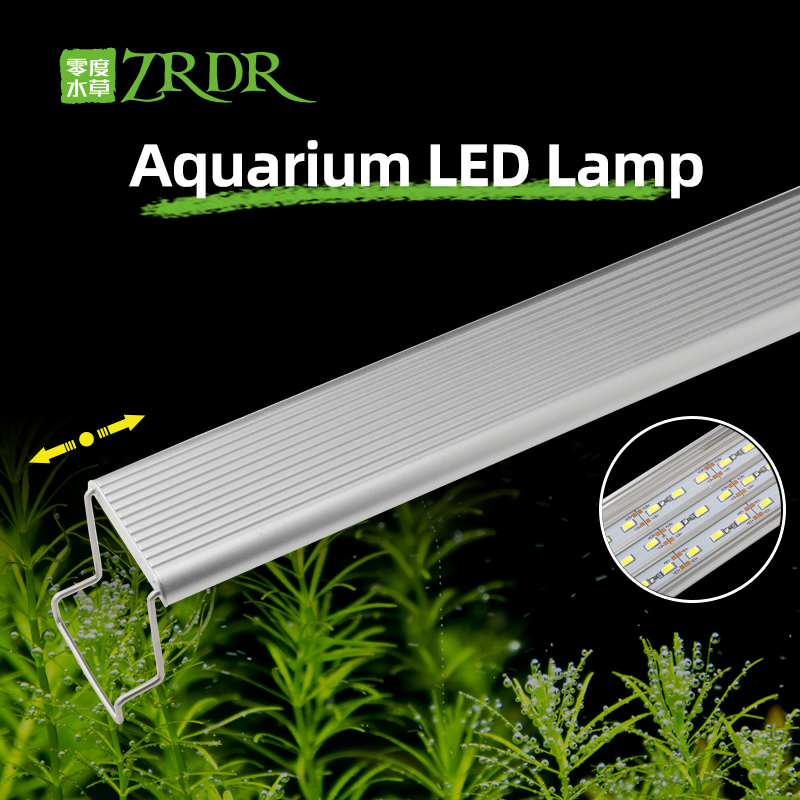 ZRDR Aquarium Plant Grow LED Light A Series Mini Nano Brief Aquarium Water Plant Fish Tank Metal Bracket Sunrise Sunset Series