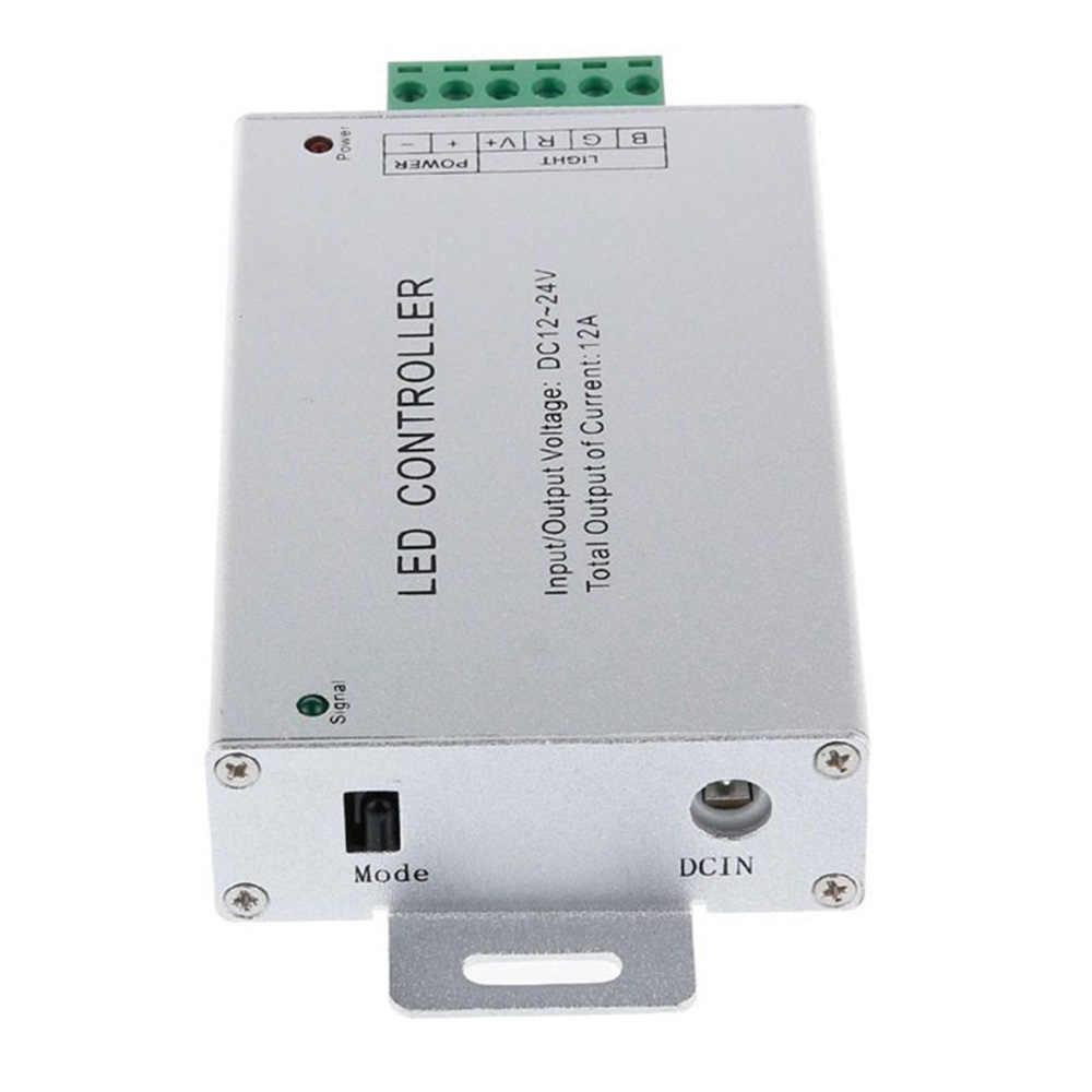 Teclas de Controle Remoto IR 44 DC12-24V 4A * 3 Canal LED RGB Controlador de Alumínio shell LED Controlador Para SMD 5050 3528 RGB LED Strip