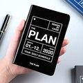 Diário organizador cadernos diários diário semanal agenda mensal agenda 2020 planejador a7 escola businesss plano diário viagem livro de notas