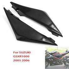 2X zbiornik paliwa do motocykla pokrywa boczna Panel Fairing rama wykończenia pokrywy skrzynka z tworzywa sztucznego dla SUZUKI GSXR1000 GSX R GSXR 1000 K5 2005 2006