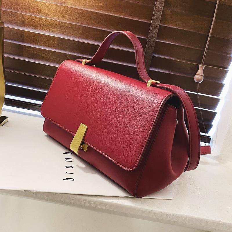 Vintage Square Crossbody Bag 2020 Fashion New High Quality Leather Women's Designer Handbag High Capacity Shoulder Messenger Bag