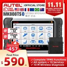 Autel MaxiCOM MK808TS OBD2 Bluetooth сканер автомобильный диагностический инструмент OBD 2 считыватель кодов Программирование TPMS датчик PK DS808 MK808 TS608