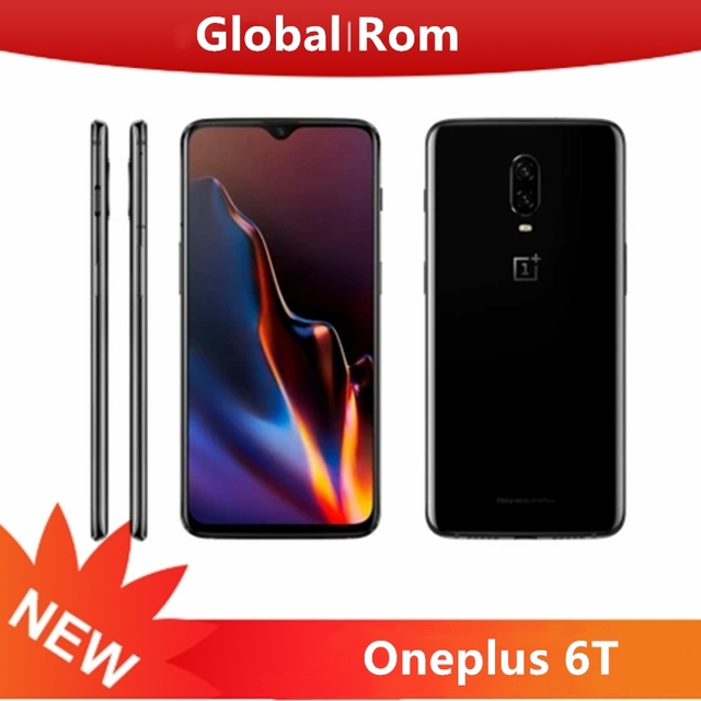 Global Rom OnePlus 6T 8GB 128GB Mobile Phone Snapdragon 845 4G LTE 6.41'' NFC 3700mAh AI Camera 20.0+16.0MP Android 9.0 Phone 1